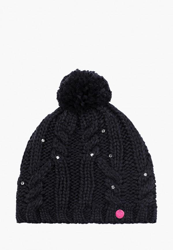 шапка roxy для девочки, черная