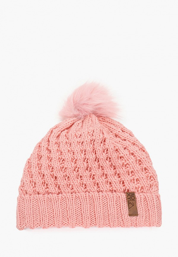 шапка roxy для девочки, розовая