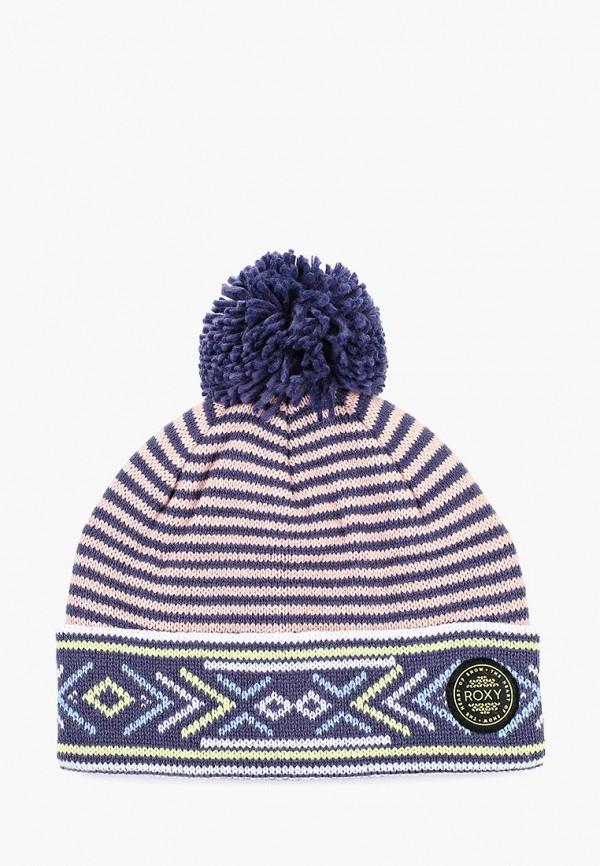 Купить Шапка Roxy, ro165cwcfhk6, синий, Осень-зима 2018/2019