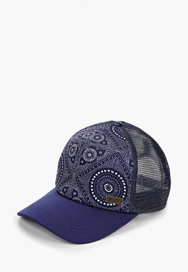 женская бейсболка roxy, синяя