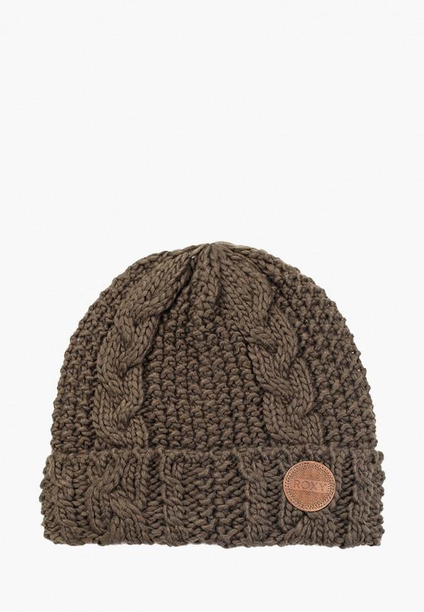 женская шапка roxy, хаки