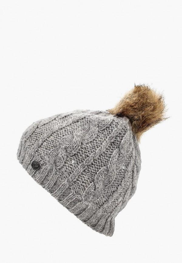 женская шапка roxy, серая