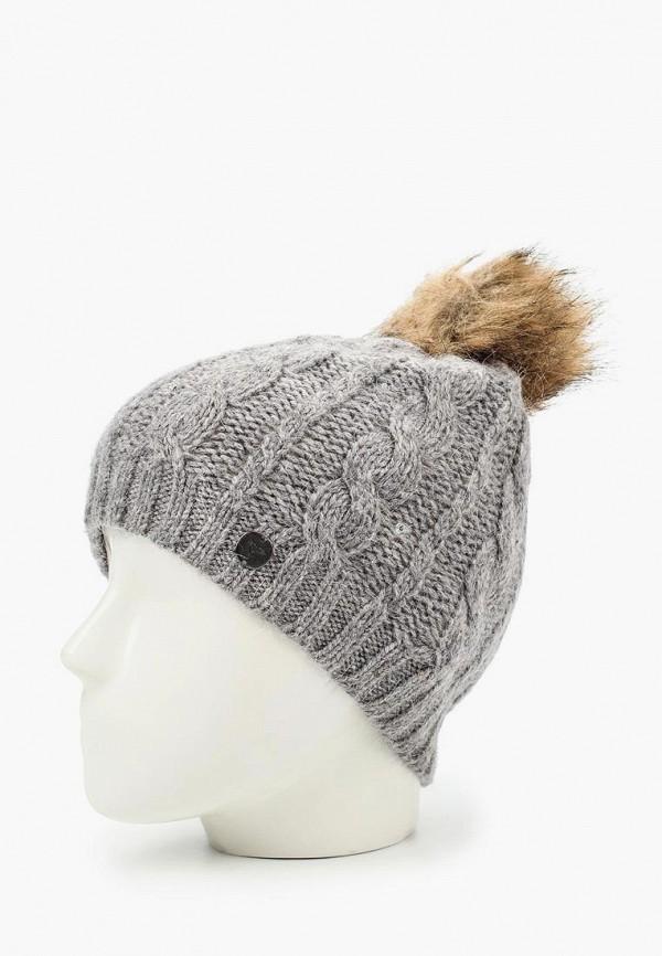 Фото 2 - женскую шапку Roxy серого цвета
