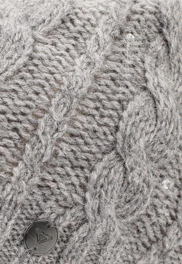 Фото 4 - женскую шапку Roxy серого цвета
