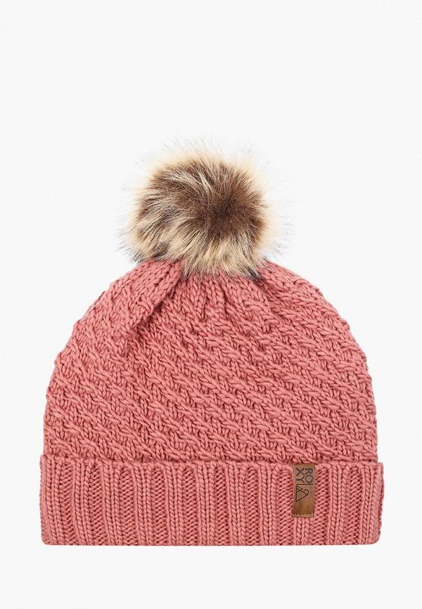женская шапка roxy, розовая