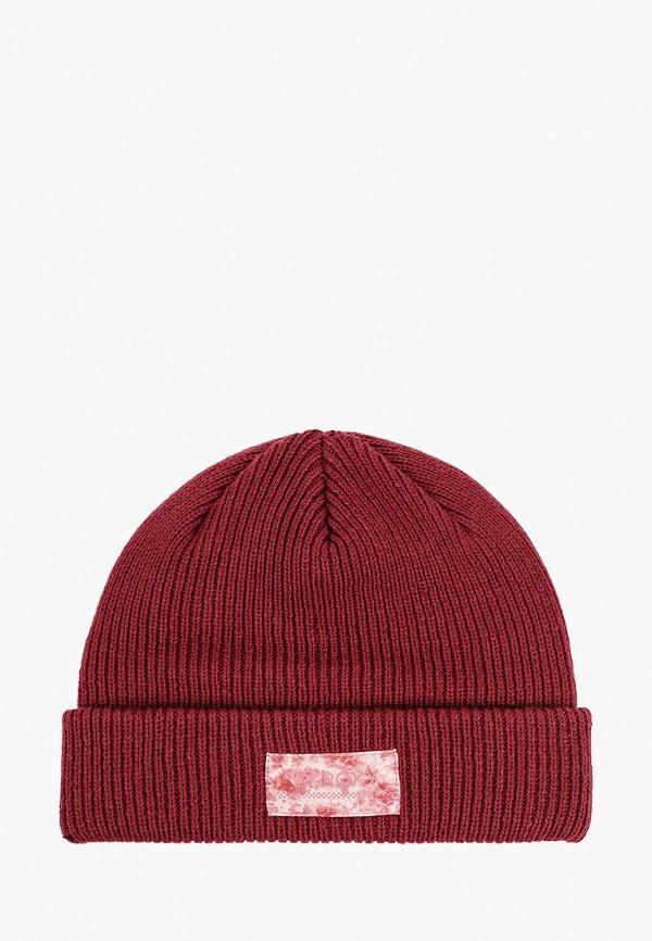 женская шапка roxy, бордовая