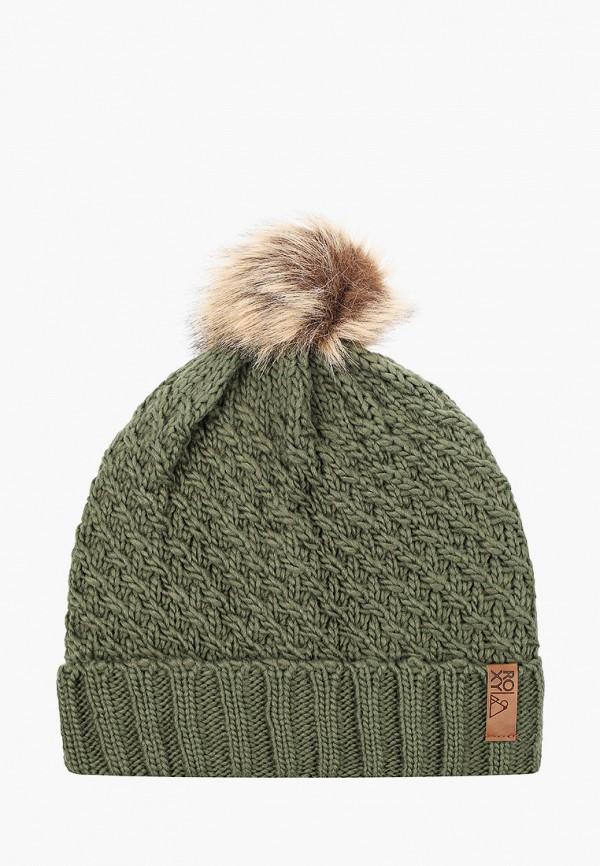 женская шапка roxy, зеленая