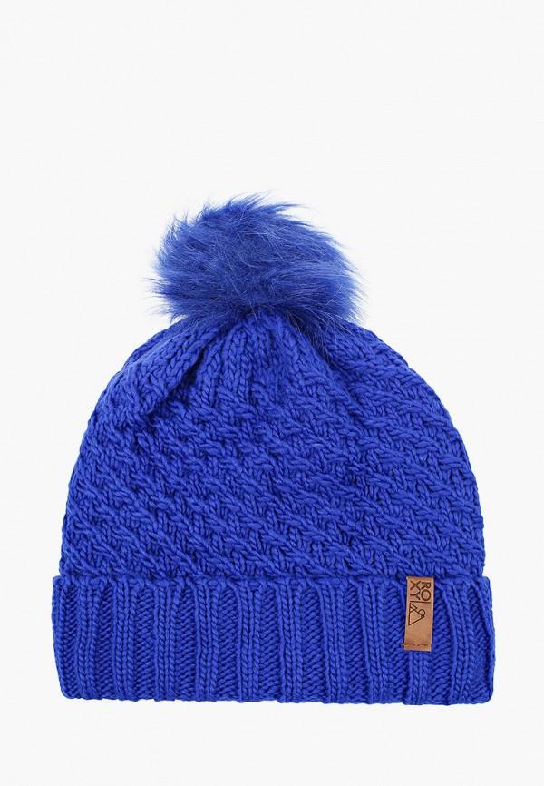 женская шапка roxy, синяя