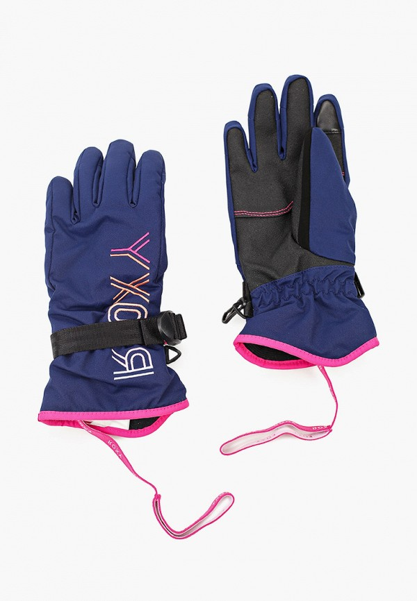 перчатки roxy для девочки, синие