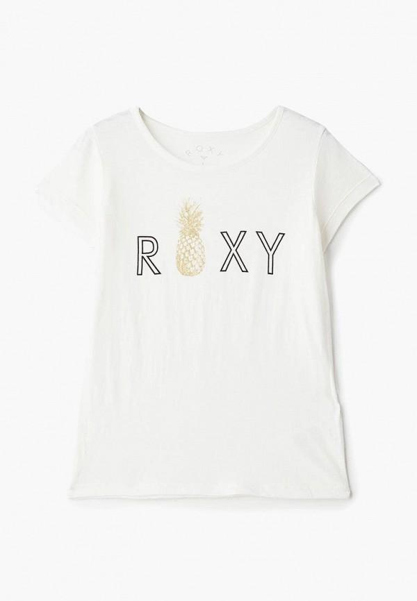 футболка roxy для девочки, белая