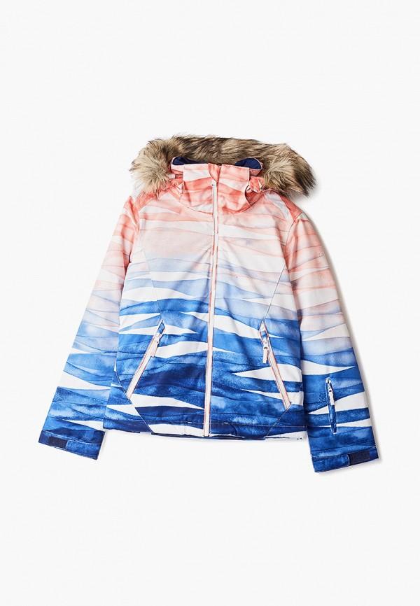 куртка roxy для девочки, разноцветная