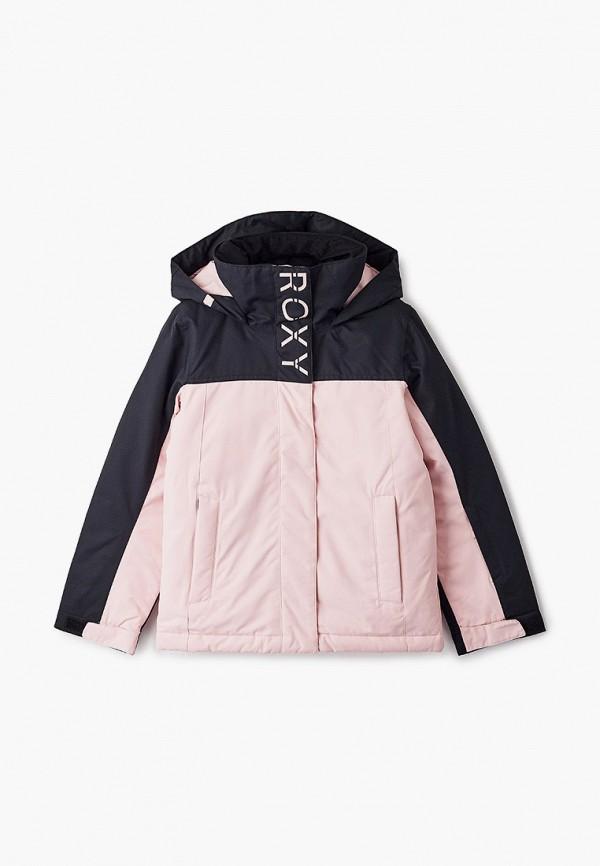 куртка roxy для девочки, розовая
