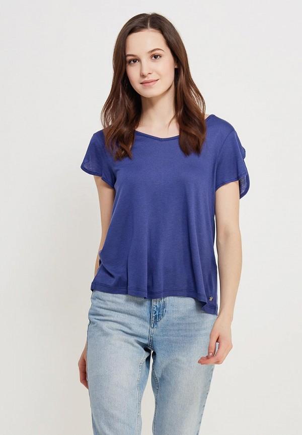 Фото - женскую футболку Roxy синего цвета