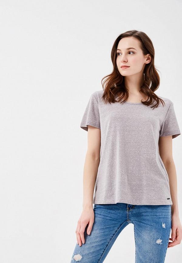 женская футболка roxy, серая