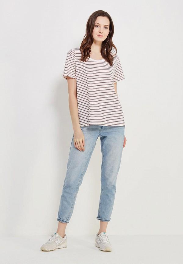 Фото 2 - женскую футболку Roxy белого цвета
