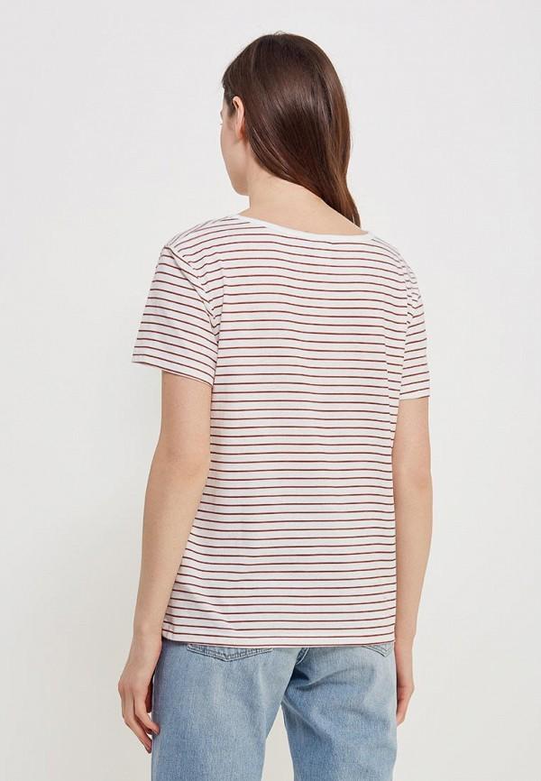 Фото 3 - женскую футболку Roxy белого цвета