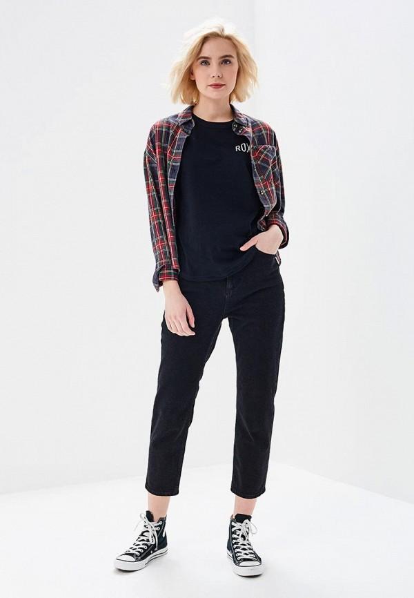 Фото 2 - женскую футболку Roxy черного цвета