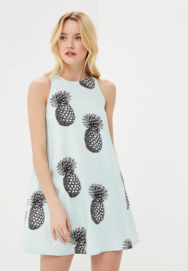 Купить Платье Roxy, ro165ewakfh0, бирюзовый, Осень-зима 2018/2019