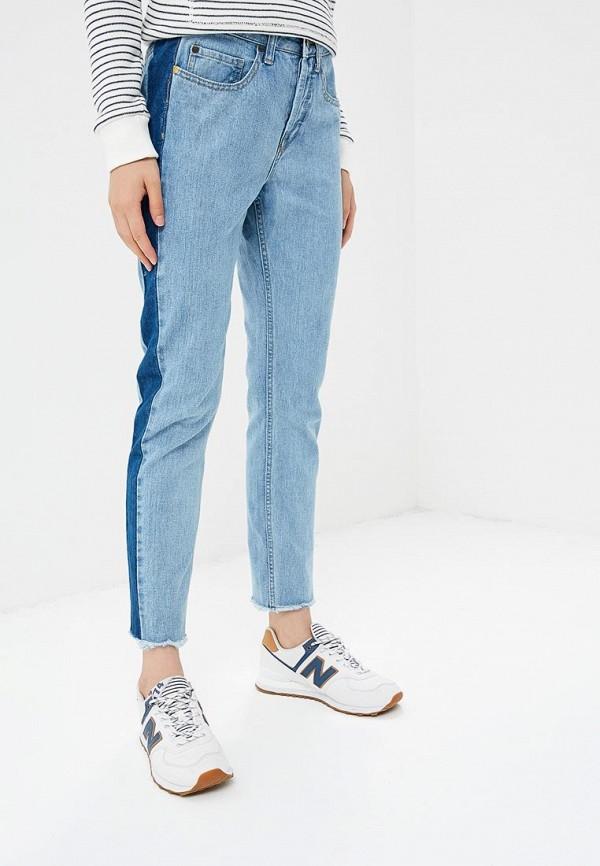 женские джинсы скинни roxy, голубые