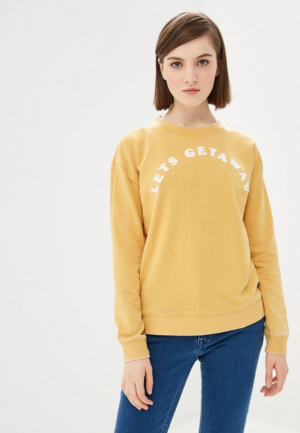 Купить Свитшот Roxy, RO165EWCFHY9, желтый, Осень-зима 2018/2019