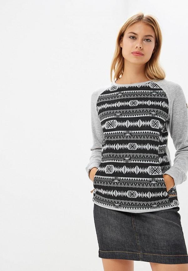 Купить Свитшот Roxy, ro165ewcfib8, серый, Осень-зима 2018/2019