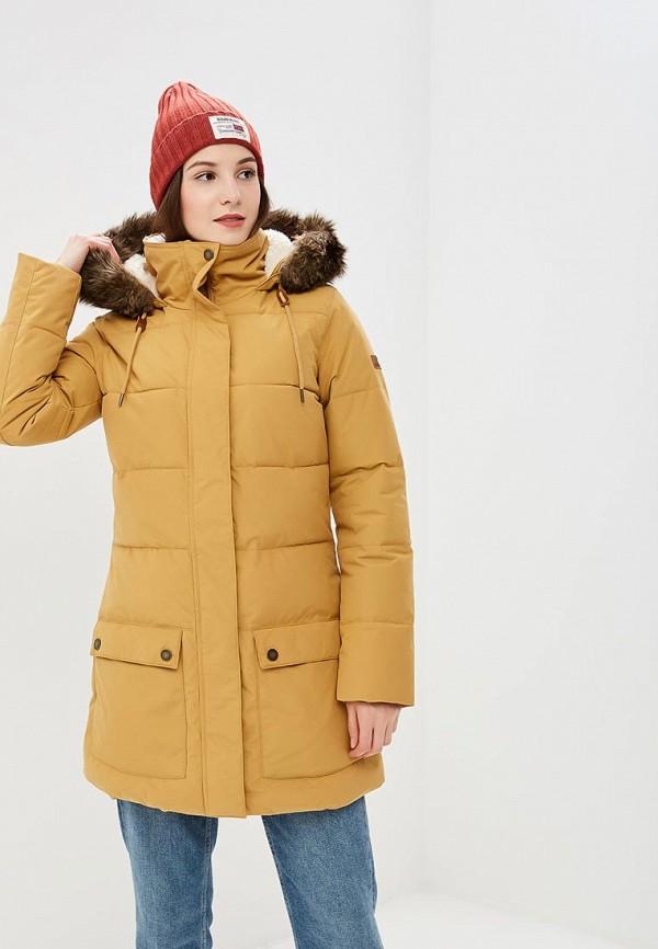 Купить Куртка утепленная Roxy, ELLIE, ro165ewcfid9, желтый, Осень-зима 2018/2019