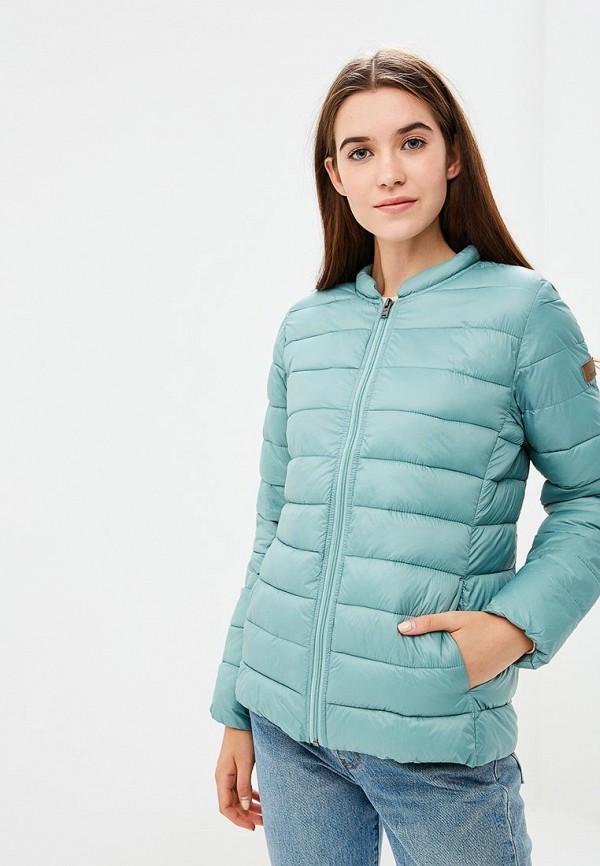 женская куртка roxy, бирюзовая