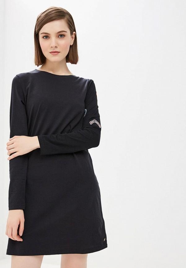 женское повседневные платье roxy, черное
