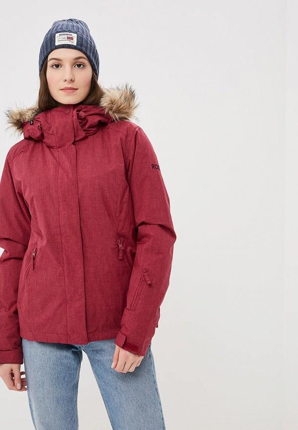 женская горнолыжные куртка roxy, бордовая