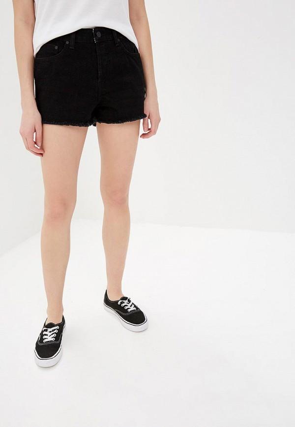 женские джинсовые шорты roxy, черные