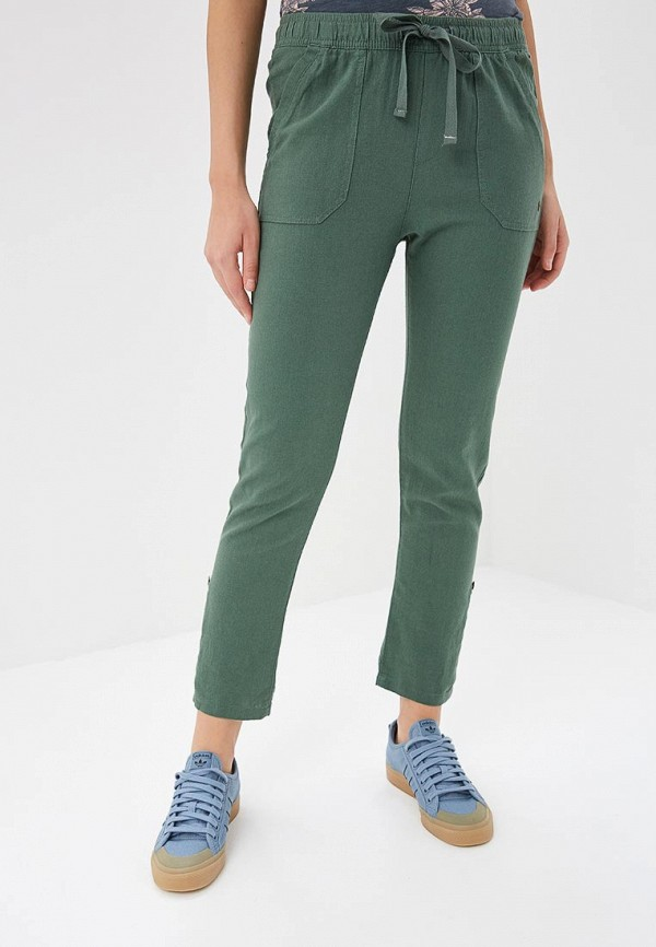 женские спортивные брюки roxy, зеленые