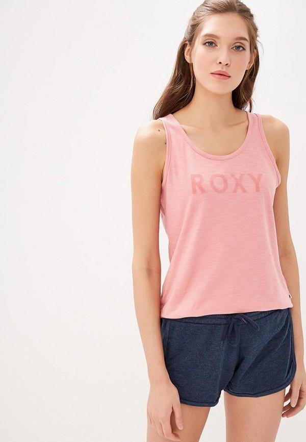 женская спортивные майка roxy, розовая