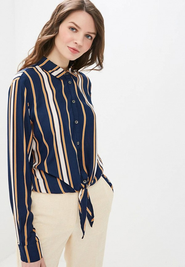 женская рубашка с длинным рукавом roxy, синяя