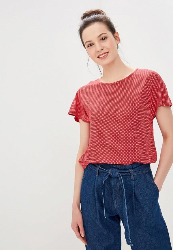 женская блузка roxy, красная