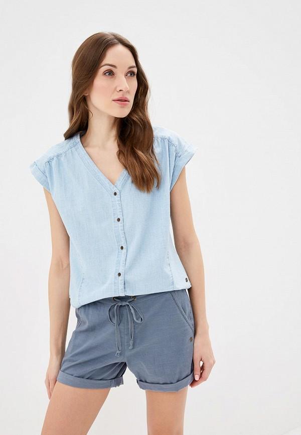 женская блузка roxy, голубая