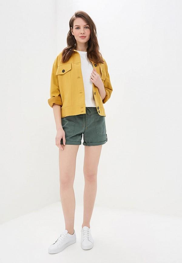 Фото 2 - женские шорты Roxy зеленого цвета