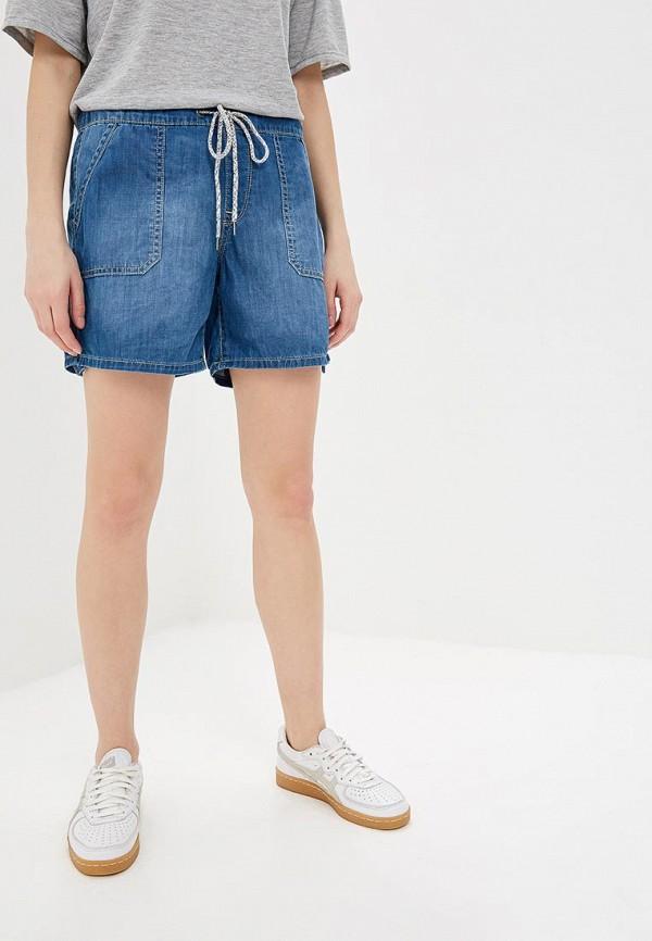 женские джинсовые шорты roxy, синие