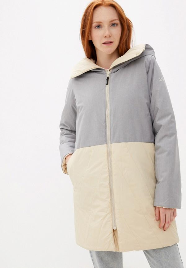 женская куртка roxy, бежевая