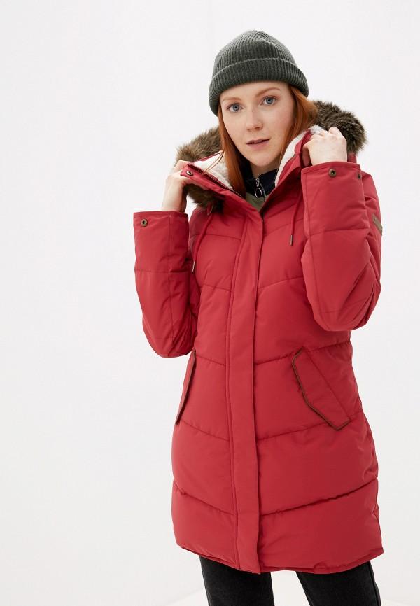 женская куртка roxy, красная