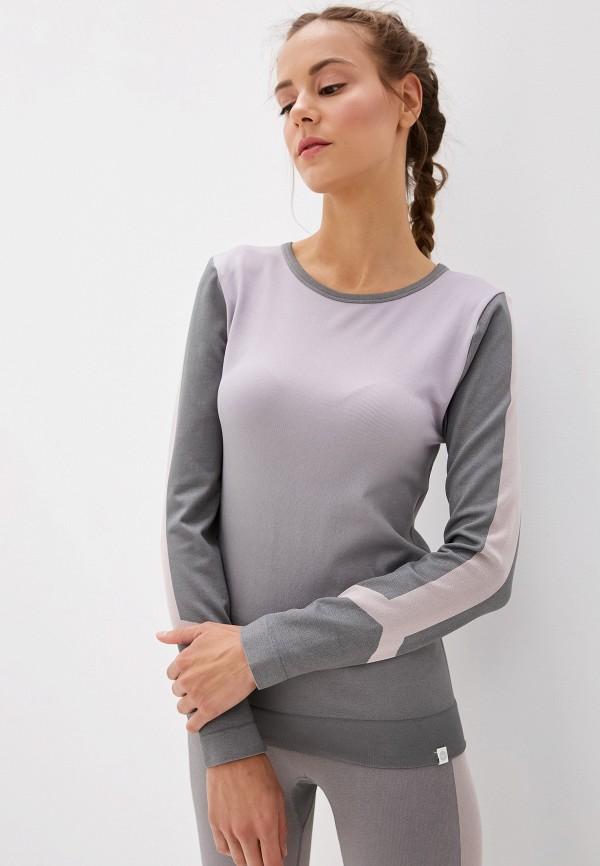 женский лонгслив roxy, серый