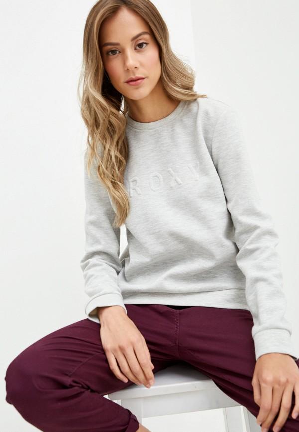 Свитшот Roxy Roxy RO165EWEXKX1 брюки женские roxy цвет серый erjfb03177 sgrh размер s 42 34