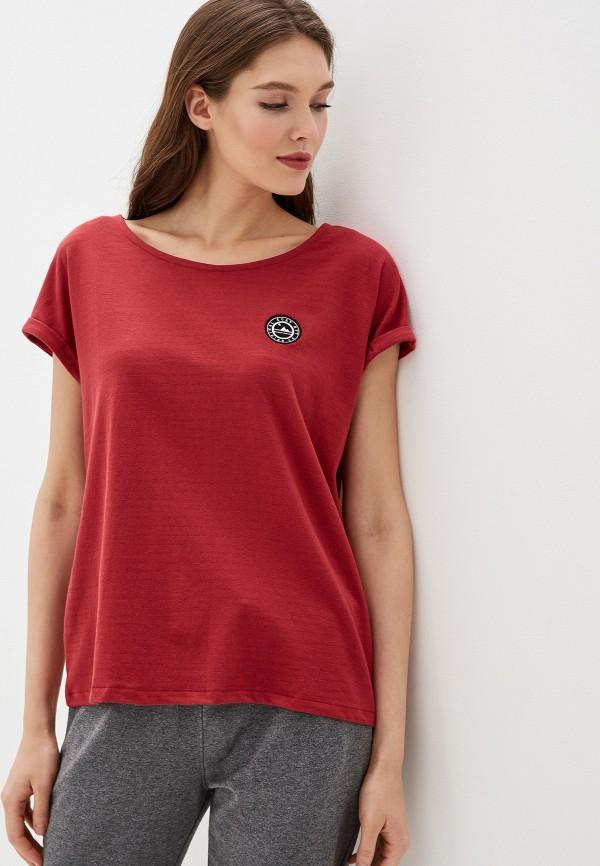женская спортивные футболка roxy, красная