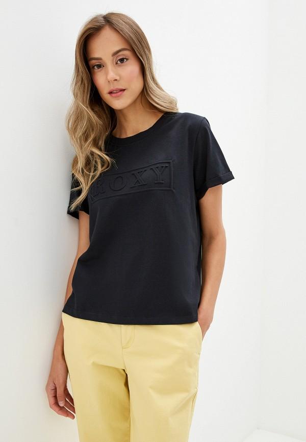 женская спортивные футболка roxy, черная