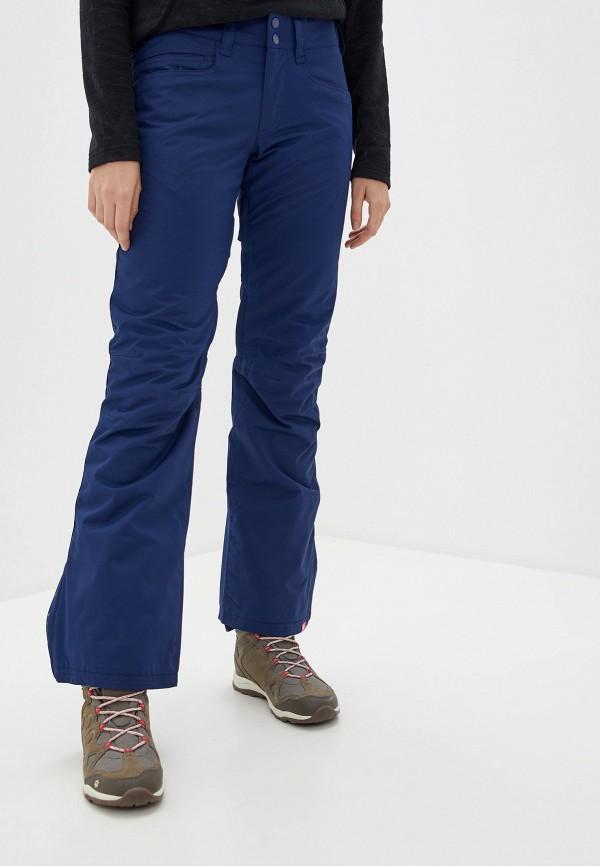 женские сноубордические брюки roxy, синие
