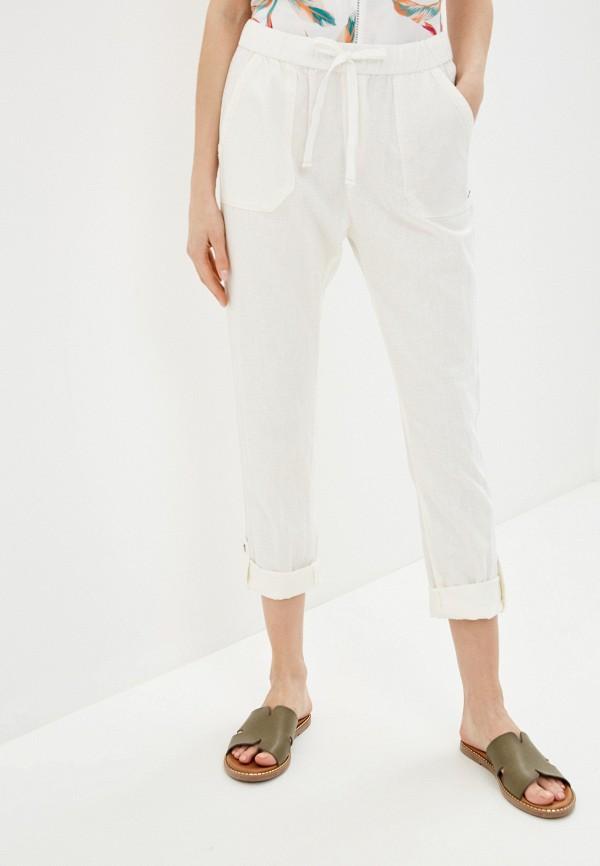 женские повседневные брюки roxy, белые