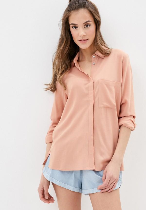 женская блузка с длинным рукавом roxy, бежевая