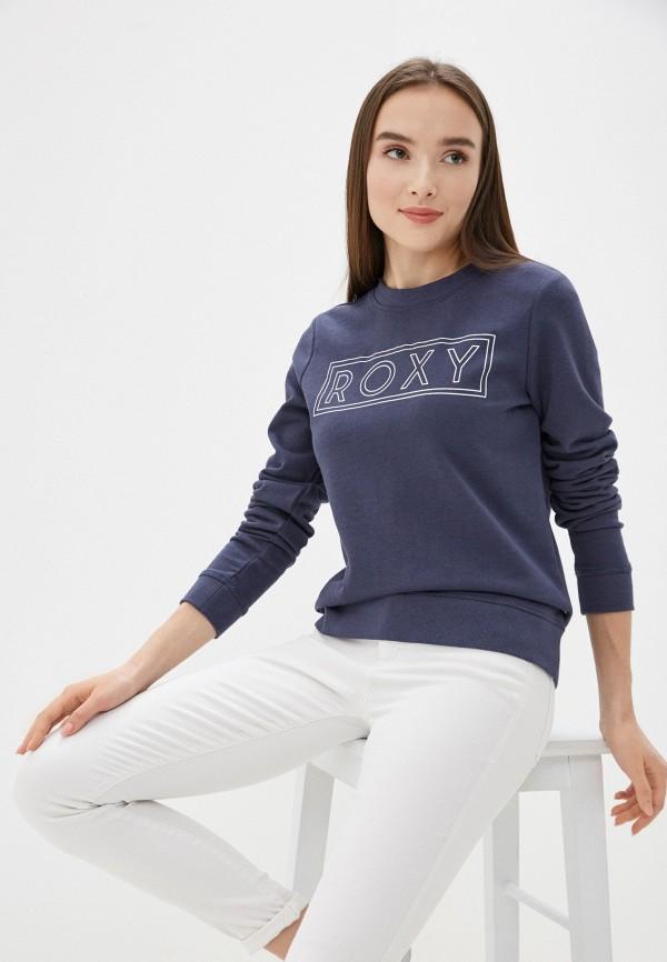 женский свитшот roxy, синий