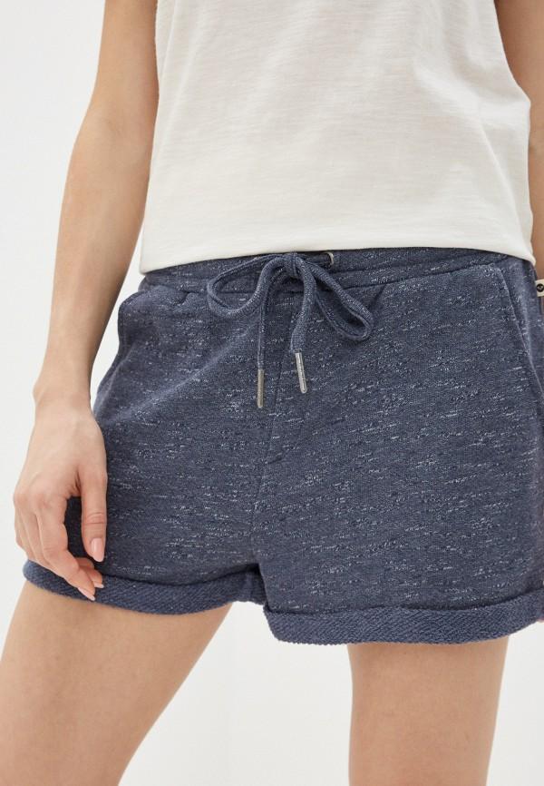 женские повседневные шорты roxy, синие
