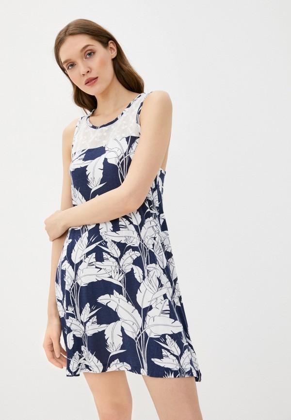 женское повседневные платье roxy, синее