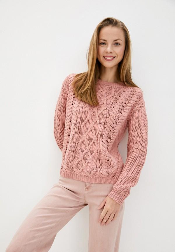 женский джемпер roxy, розовый
